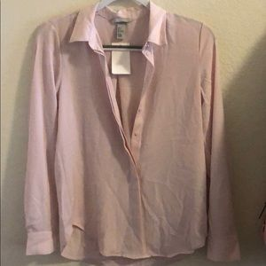 BRAND NEW super cute light pink h&m blouse